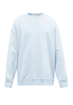 Givenchy - Refracted Logo-embroidered Cotton Sweatshirt - Mens - Blue