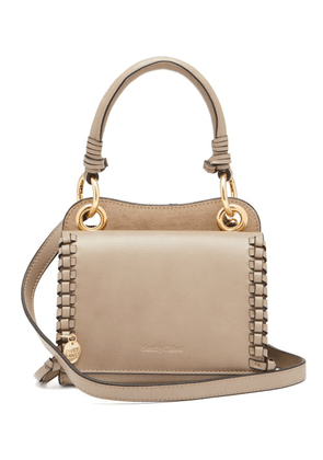 See By Chloé - Tilde Suede And Leather Shoulder Bag - Womens - Grey Multi
