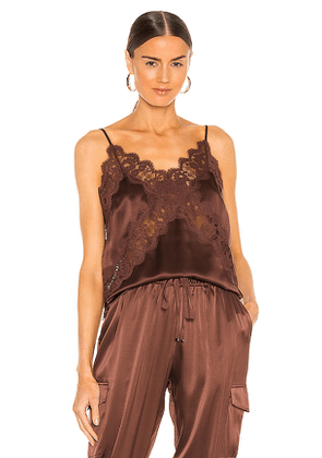CAMI NYC Dane Cami in Chocolate. Size M, S, XS.