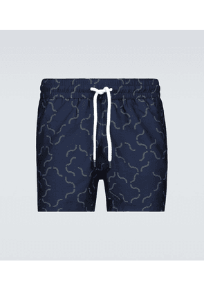 Jacquard linear tile swim shorts