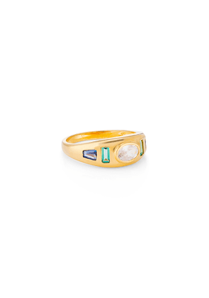 V By Laura Vann Sara Gypsy 18kt Gold-plated Ring