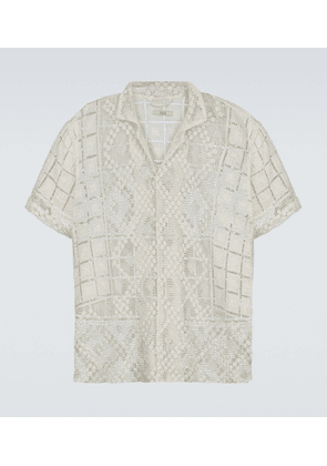 One of a Kind filet lace shirt