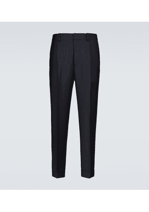 Tapered wool-blend pants