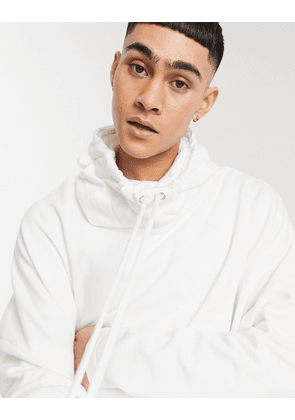 ASOS DESIGN extreme oversized hoodie with funnel neck in white