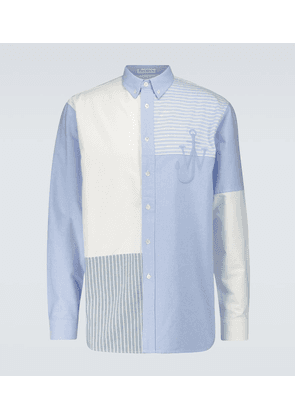Relaxed-fit cotton patchwork shirt