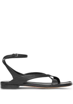 Burberry wrap-around low-heel sandals - Black