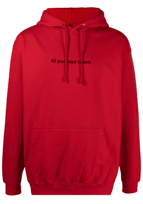 F.A.M.T. All You Need Is Less drawstring hoodie - Red