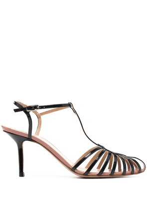 Francesco Russo cut-out detail pointed toe sandals - BLACK