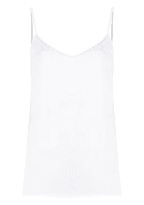 Fabiana Filippi metallic-trim cami top - White