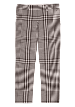 Burberry check technical tailored trousers - Brown