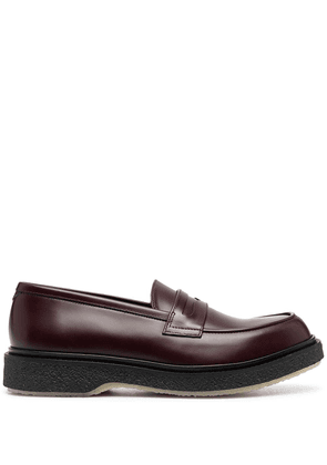 Adieu Paris Type 5 leather loafers - Red