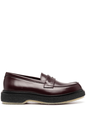 Adieu Paris Type 5 penny loafers - Red