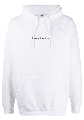 F.A.M.T. Now's The Time drawstring hoodie - White