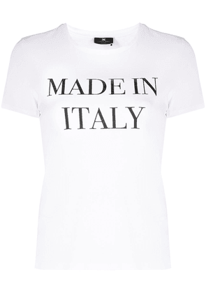 Elisabetta Franchi Made In Italy print T-shirt - White