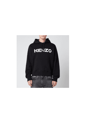 KENZO Men's Bi-Colour Logo Hoodie - Black - M