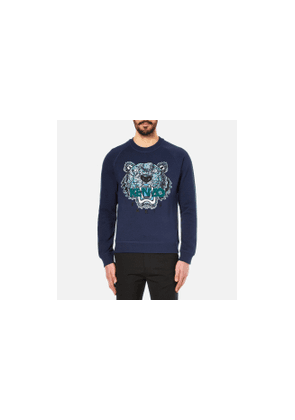 KENZO Men's Snake X Tiger Embroidery Sweatshirt - Navy - L - Navy