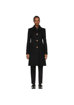 Givenchy Black Wool 4G Chain Coat