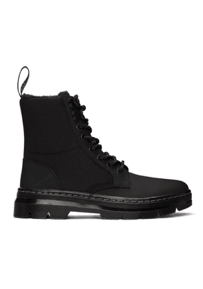 Dr. Martens Black Fur-Lined Combs II Lace-Up Boots