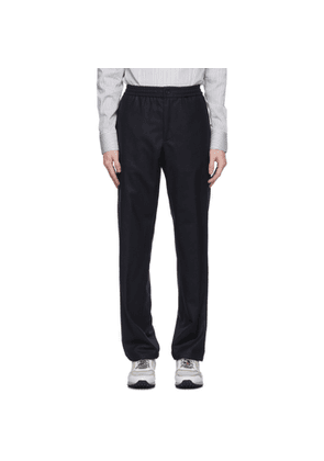 Dunhill Navy Wool Twill Trousers