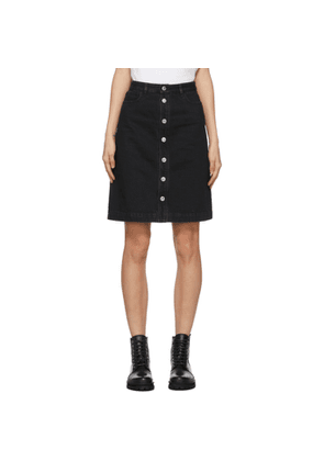 A.P.C. Black Denim Therese Miniskirt