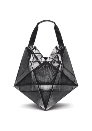 132 5. ISSEY MIYAKE Black and Silver Large Standard No.4 Tote