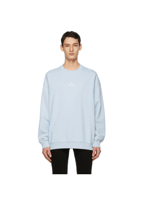 Givenchy Blue Embroidered Refracted Sweatshirt