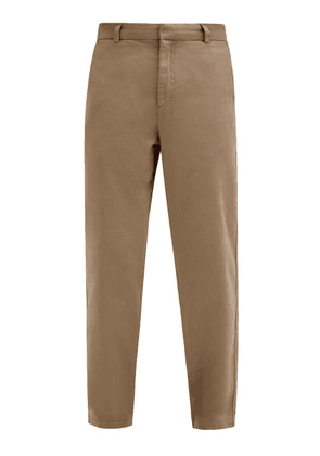 Another Aspect - Garment-dyed Cotton-twill Chino Trousers - Mens - Brown
