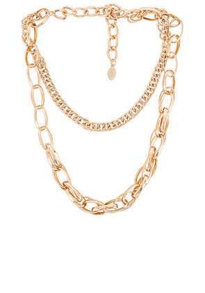8 Other Reasons Heaven Sent Lariat Necklace in Metallic Gold.