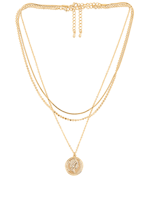 8 Other Reasons Dreamiest Lariat Necklace in Metallic Gold.