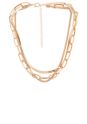 8 Other Reasons 109 Layered Necklace in Metallic Gold.