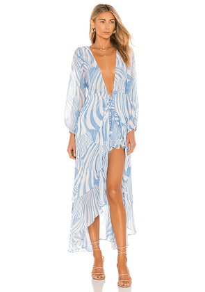 MISA Los Angeles X REVOLVE Talitha Robe in Baby Blue. Size M, S, XS.
