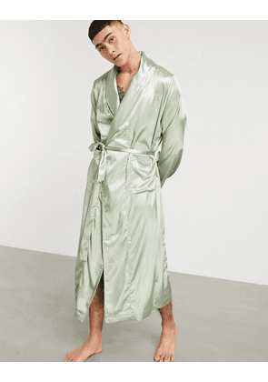 ASOS DESIGN dressing gown in mint-Green