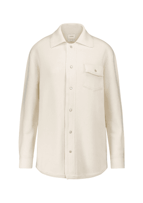 Cashmere and cotton shirt