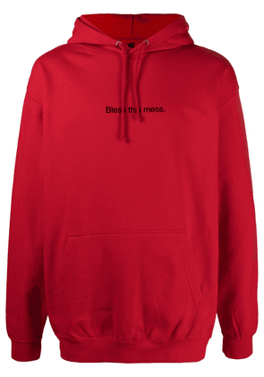 F.A.M.T. Bless This Mess drawstring hoodie - Red