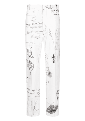 Alexander McQueen Sketchbook tailored trousers - White