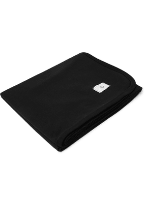 REIGNING CHAMP - Stadium Loopback Cotton-Jersey Blanket - Men - Black