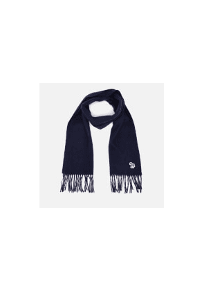 PS Paul Smith Men's Zebra Patch Scarf - Navy