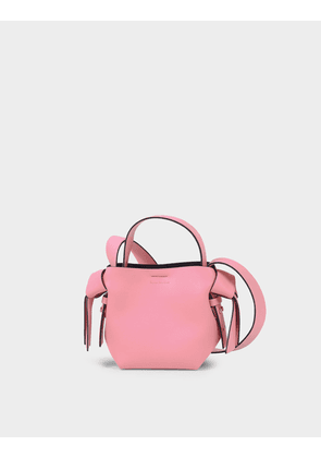 Musubi Micro Bag in Pink and Black Leather