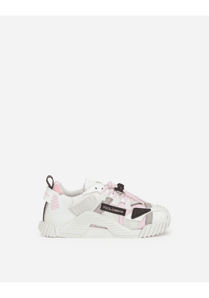 Dolce & Gabbana Shoes (24-38) - Reflective fabric NS1 sneakers WHITE/PINK male 29
