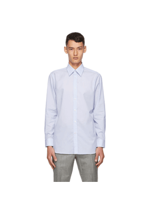 Dunhill Blue Formal Striped Shirt