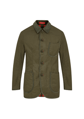 Olive Cotton Quilted Jacket