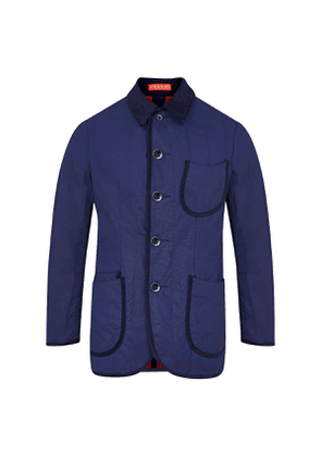 Navy Cotton Quilted Jacket