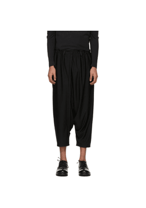 132 5. ISSEY MIYAKE Black Recycled Jersey Basic Trousers