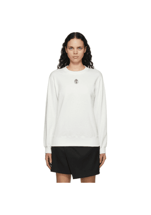 Dolce and Gabbana White Embroidered Crest Sweatshirt