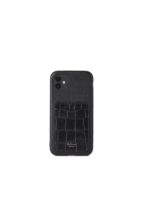 Mulberry Women's iPhone 11 Case With Credit Card Slip - Black