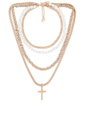 8 Other Reasons 111 Necklace Pack in Metallic Gold.