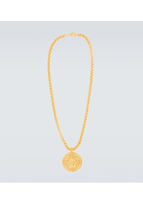 Medusa gold-plated necklace