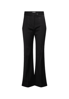 High-rise flared stretch-twill pants