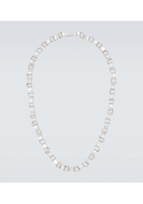 Rolo chain sterling silver necklace