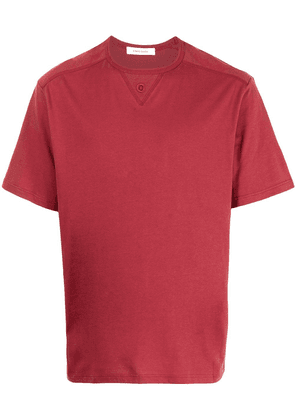 Craig Green eyelet embroidery round neck T-shirt - Red